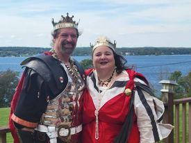 Their Sylvan Majesties King Timothy of Arindale and Queen Gabrielle van Nijenrode